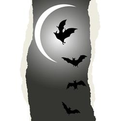 Flying bats Halloween background vector image vector image