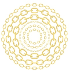 Gold circle chains vector