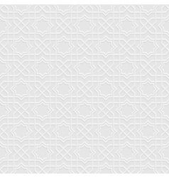 Grey seamless pattern in arabian style vector