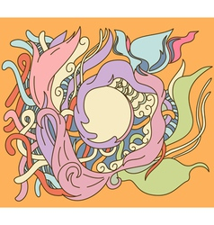 Hand drawn abstract design with place for your tex vector image vector image