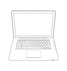 laptop sketch vector image