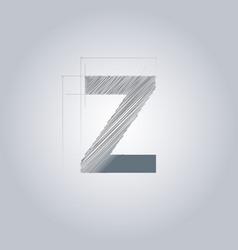Letter z logo alphabet logotype architectural vector