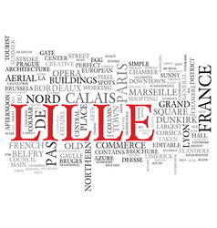 Lille word cloud concept vector
