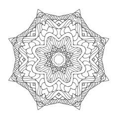 mandala collection vector image vector image