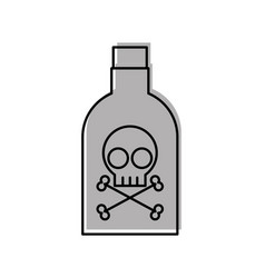 poison bottle with skull vector image