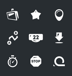 set of road navigation icons vector image vector image