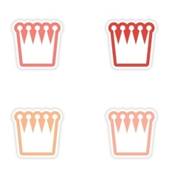 Set of stickers british crown on white background vector