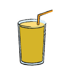 smoothie drink icon vector image vector image