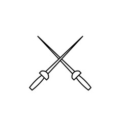 swords icon vector image