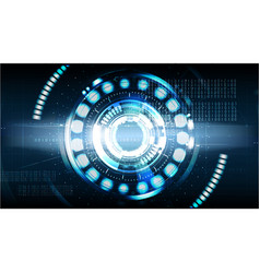 Technological cybersecurity future abstract vector