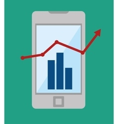 Technology business growth statistics design icon vector