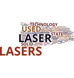 The innumerous benefits of laser technology text vector