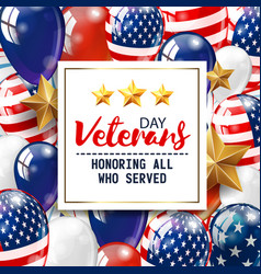 veterans day greeting white plate vector image