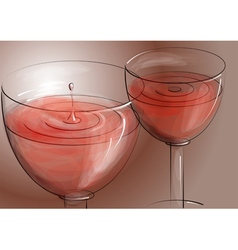 Rose wine vector