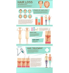 Hair loss infographic poster vector