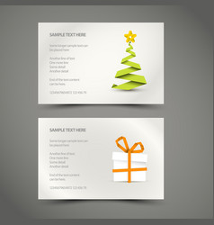 set of simple christmas cards vector image