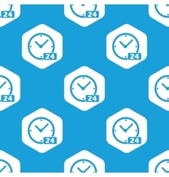 24 hours hexagon pattern vector