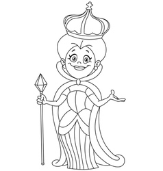 Outlined queen vector