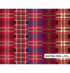 Scottish cells set vector