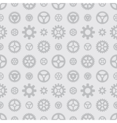 Gray gears seamless pattern vector
