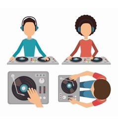 Music dj party theme vector