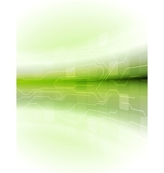 Abstract green motion technology background vector