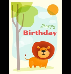 Birthday and invitation card animal background vector
