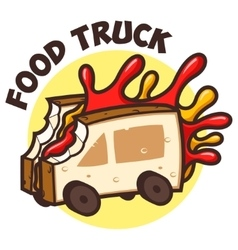 Food truck bread jam vector