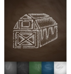 barn icon vector image