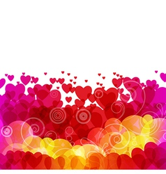 Beautiful background with hearts vector image