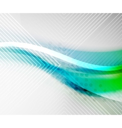 Blue green blur color wave vector image vector image