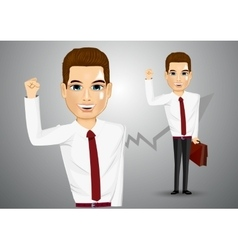 Business man with briefcase vector