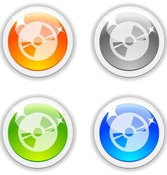 Cd buttons vector