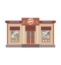 Confectionary shop commercial building facade vector
