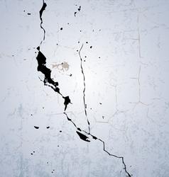 Cracked Wall vector image