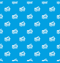 Credit card pattern seamless blue vector
