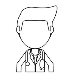 doctor staff medical hospital thin line vector image