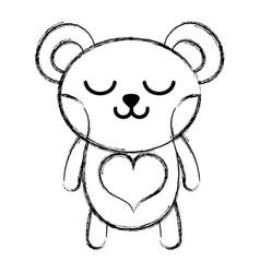 figure sleeping bear cute wild animal vector image