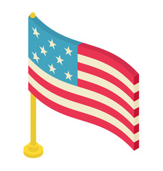 flag icon isometric 3d style vector image