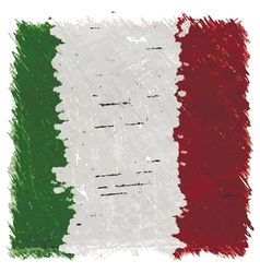 Flag of Italy handmade square shape vector image