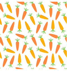 Flat design carrot seamless pattern background vector
