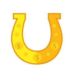 golden horseshoe conceptual vector image