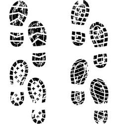 Grunge shoe print vector