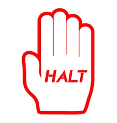 halt icon vector image