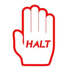 Halt icon vector