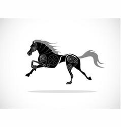 horse machine vector image