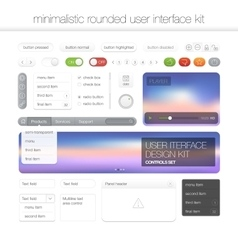 Modern user interface screen template kit for vector