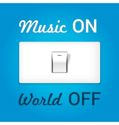 Music on world off vector