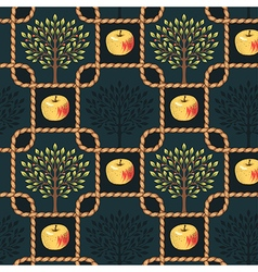 Pattern rope apple vector