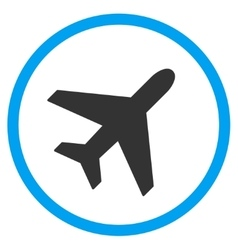 Plane Circled Icon vector image